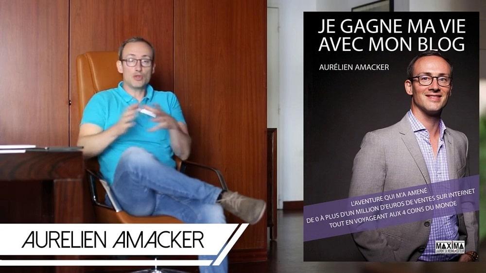 Aurélien Amacker auteur je gagne ma vie avec mon blog et système IO avis